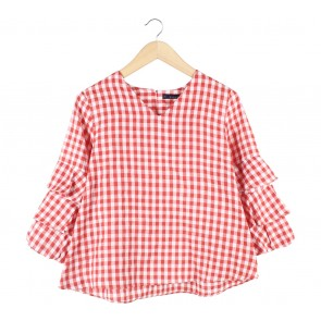 N.Y.L.A Red And White Plaid Blouse
