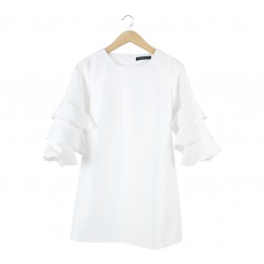 N.Y.L.A White Bell Sleeves Mini Dress