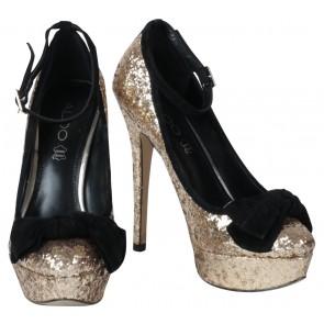 Aldo Gold Platform Heels
