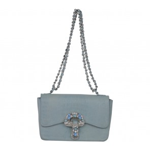 Exotica Blue Beaded Shoulder Bag