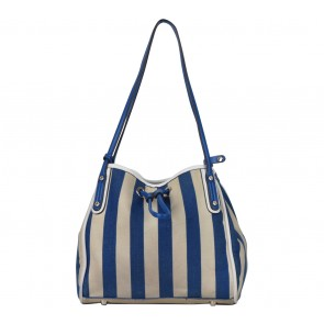 Hush Puppies Blue And Brown Handbag