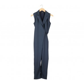 Pomelo. Dark Blue Jumpsuit