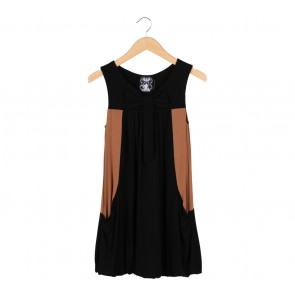 Twelve by Twelve Black And Brown Sleeveless Mini Dress