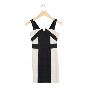 H&M Black And Cream Mini Dress