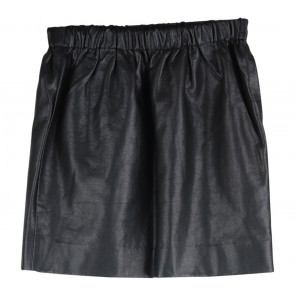 Sparkle & Fade Black Leather mini Skirt