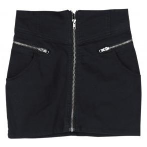 Divided Black Short Skirt