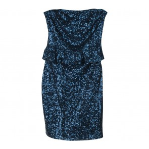 Zara Blue Sequins Mini Dress