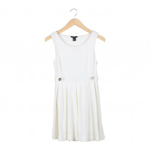 H&M Off White Mini Dress
