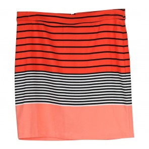 Pim + Larkin Orange Striped Skirt