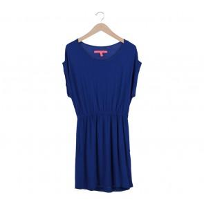 MNG Basic Blue Waist Rubber Midi Dress