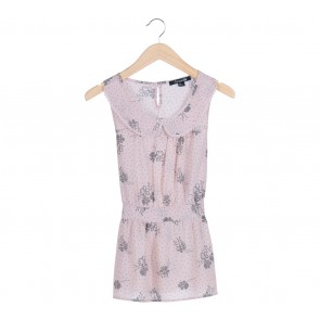 Forever 21 Peach Floral Sleeveless