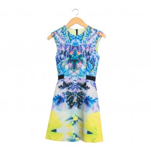 H&M Multi Colour Abstract Mini Dress