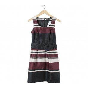 H&M Multi Colour Striped Midi Dress