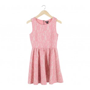 H&M Pink Lace Sleeveless Mini Dress