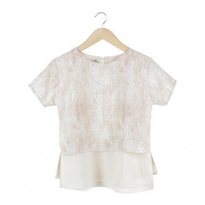 Label Eight Cream Layered Blouse