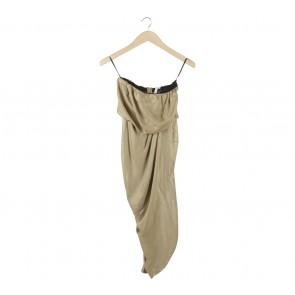 Rachel Roy Gold Wrap Tube Midi Dress