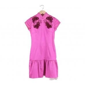 Sissae Pink Cheongsam Mini Dress