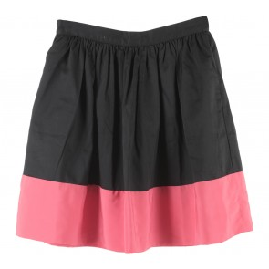 Topshop Black And Pink Skirt