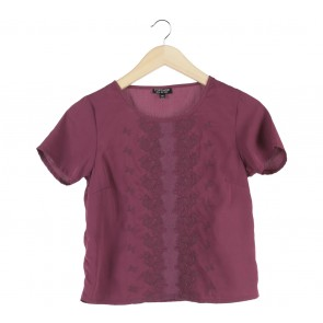 Topshop Purple See Thru Blouse