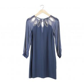 Warehouse Dark Blue Mini Dress