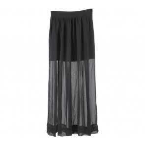 Zara Black Slit Skirt