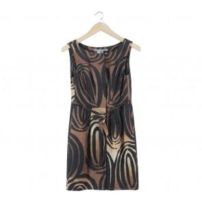 Zara Brown And Black Mini Dress
