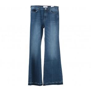 Mango  Blue Flare High Waist Pants