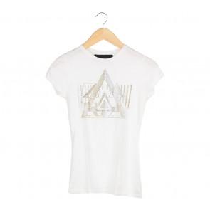 Zara White Beads T-Shirt