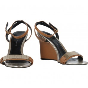 Charles and Keith Brown Ankle Strap Wedges