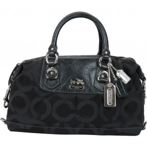 Coach Black Monogram Satchel