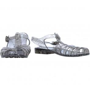 Vincci Black Jelly Glittery Sandals