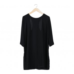 Mango Black Cut Out Mini Dress