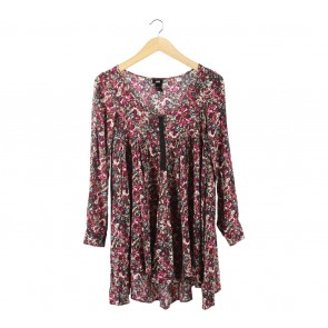 H&M Multi Colour Floral Blouse
