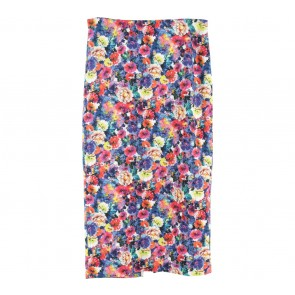 Zara Multi Colour Floral Midi Skirt