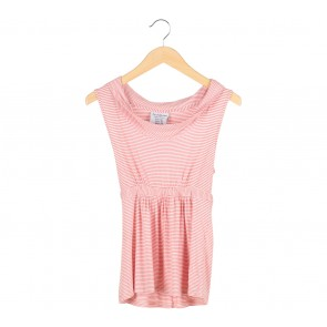 Zara Red and White Striped Sleeveless