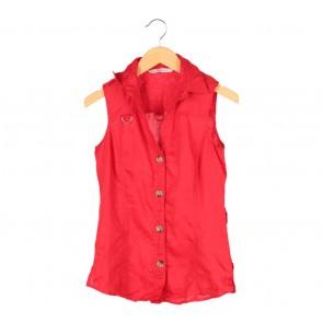 Zara Red Sleeveless