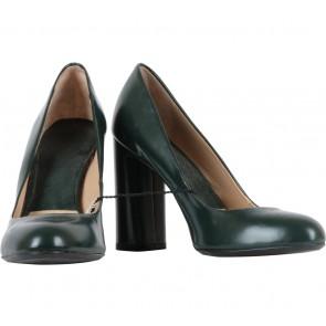Zara Green Round Toe Heels