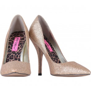 Betsey Johnson Gold Glittery Pumps Heels