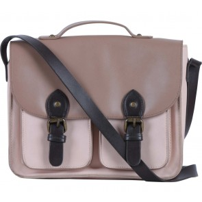 Bershka Cream And Brown Satchel