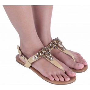 Pretty Fit Gold Sandals