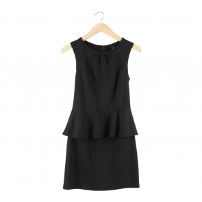 H&M Black Peplum Mini Dress