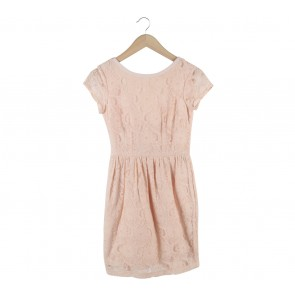 H&M Peach Lace Mini Dress