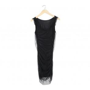 Mango Black Tulle Mini Dress