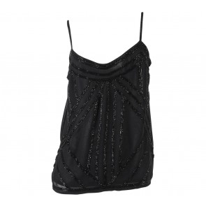New Look Black Sequins Sleeveless