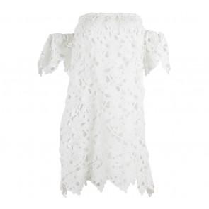 Something Borrowed White Lace Off Shoulder Mini Dress