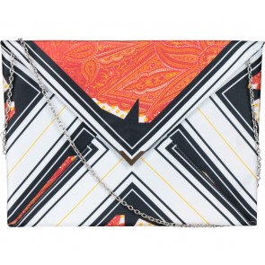 Zara Multi Colour Abstract Envelope Clutch