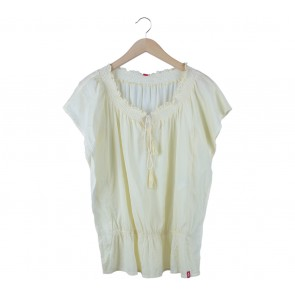 Edc Yellow Batwing Blouse
