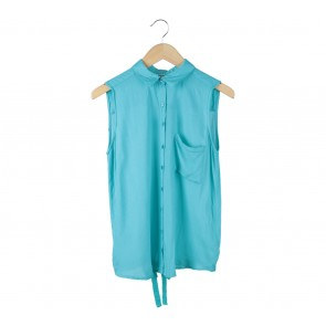 Pull & Bear Blue Sleeveless