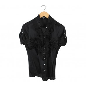 Bebe Black Blouse