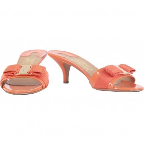 Salvatore Ferragamo Orange Heels